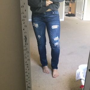 Aeropostale bayla skinny dark wash jeans